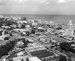 Aerial View with the Atlantic Ocean in the Background Miami, Florida, 1955