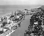 Aerial View with the Atlantic Ocean in the Left Miami, Florida, 1955