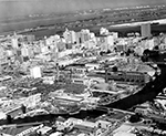 Aerial View of the Developed City Miami, Florida, 1961