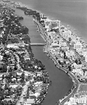 Aerial view of Indian Creek Miami Beach, Florida, 1963
