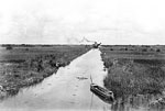 Dredge at a Distance in the Tamiami Canal, 1921
