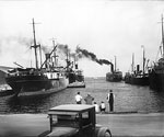 Steamship at Clyde Line Docks, 1925 A