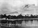 John A.D. McCurdy Flying Over Lake Worth, 1911