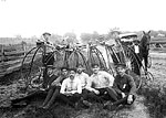 Eight Young Men With Penny-Farthing Bicycles, Tallahassee, ≈1895