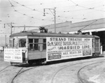 Streetcar with Advertisment Tampa, 1931